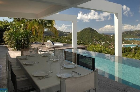 St. Barth Properties | Acerola Deck Dining