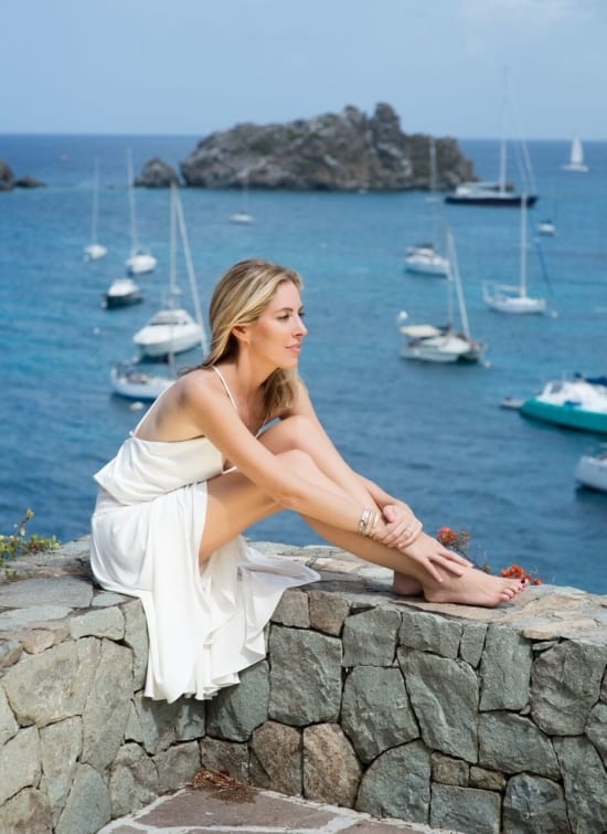 Nicole Mellon Henley in St Barths, photographed by Cristina Macaya for Quest Magazine