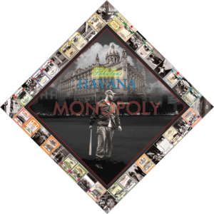 Havana Monopoly Artist: Kadir Lopez Year: 2014 Materials: Mixed Media on Aluminum Dimensions: 150 x 150 cm
