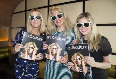 Elise Gordon, Debbie Zuloaga & Lisa Kells Show off the latest issue of Art & Culture Magazine