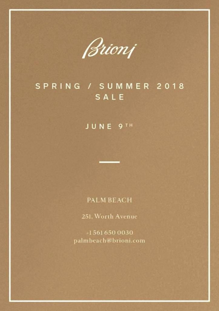 Brioni Spring Summer Sale